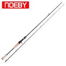 2 Section Noeby Carbon Casting Fishing Rod 1.98m/2.13m M/ML FUJI A Ring FUJI Reel Seat Bass Lure Rods Stick Vara De Pesca Olta