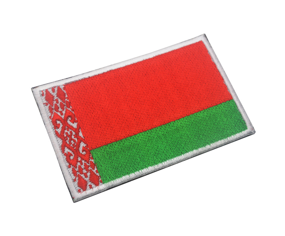 Embroidered BELARUS Flag Iron on Sew on Patch Badge HIGH QUALITY APPLIQUE