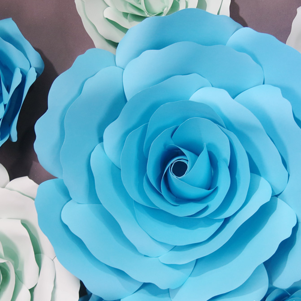 20pcsset Customized Giant Paper Flowers And Green Leaf Party