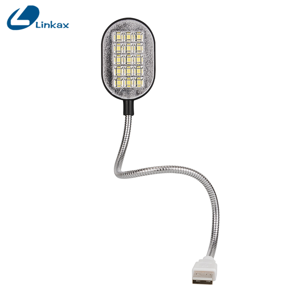 mini pc notebook white flexible portable usb led lamp