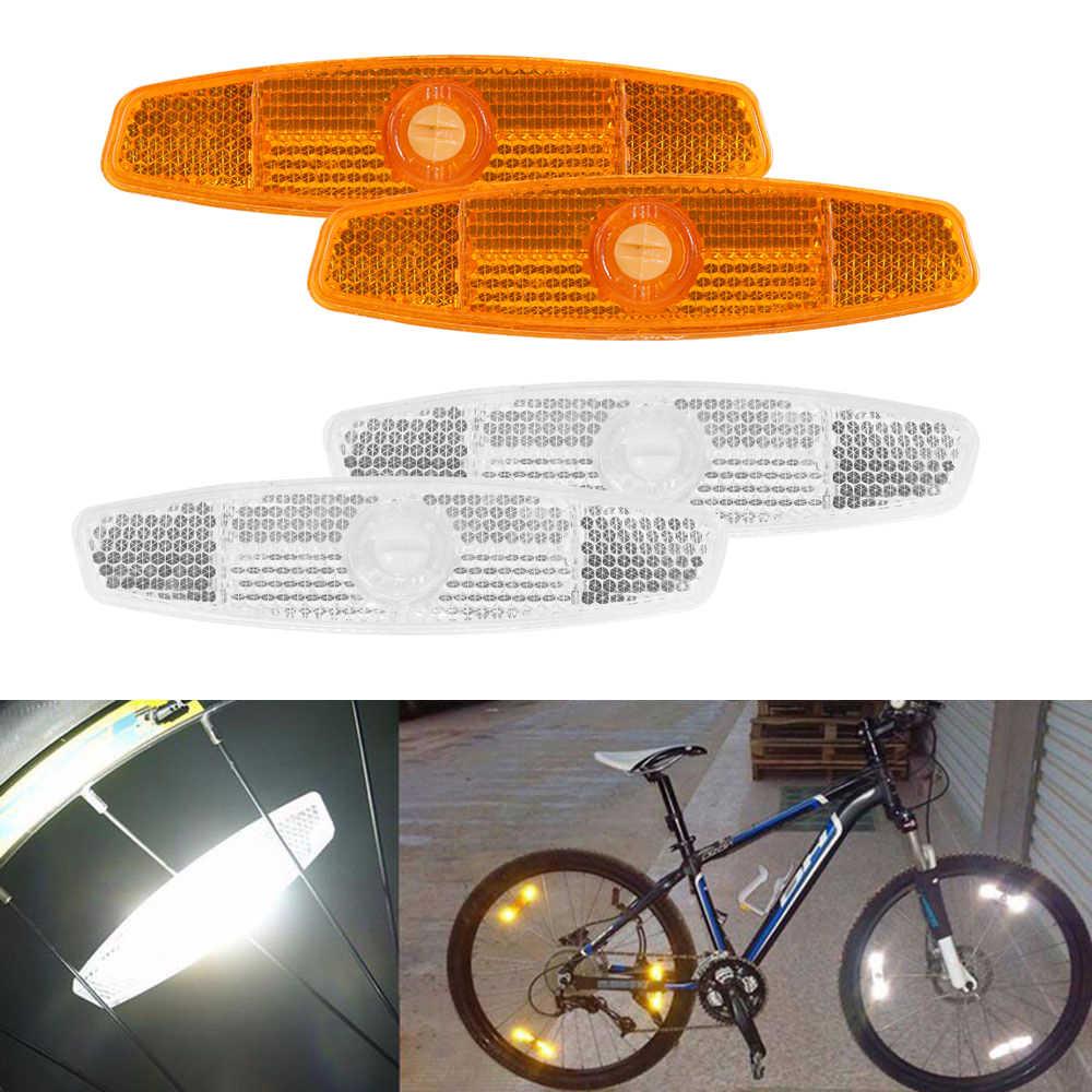 2pcs Warning Lights Wheel Reflective Bike Bicycle Mountain Spoke Reflector PP