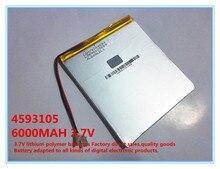 3.7 V, 6000 mAH, 4593105 Original L G bateria de polímero de íon de lítio da bateria; SmartQ T20, VI40, AMPE A86 Dual Core P85 Tablet PC