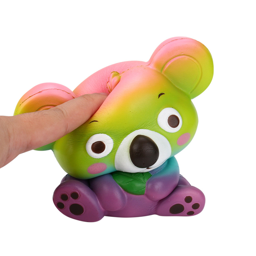 Novety 12Cm Cute Koala Cream Scented Squishy Toy huge Slow Rising Squeeze Strap Kid Toy Gift Decompression Fun Toys For Child
