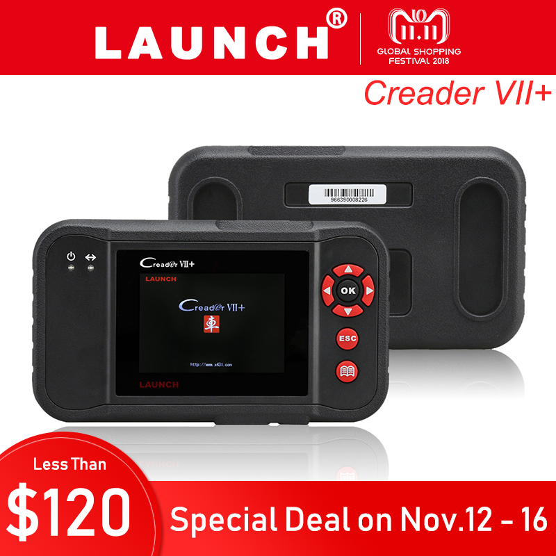 Launch X431 Creader VII Plus OBD2 Scanner ENG ABS Airbag Diagnostic Scan Tool OBDII Scaner OBD 2 Car Code Reader Diagnostics 7S launch x431 obd2 diagnostic tool obdii bluetooth adapter scanner cars code readers for ios android m diag