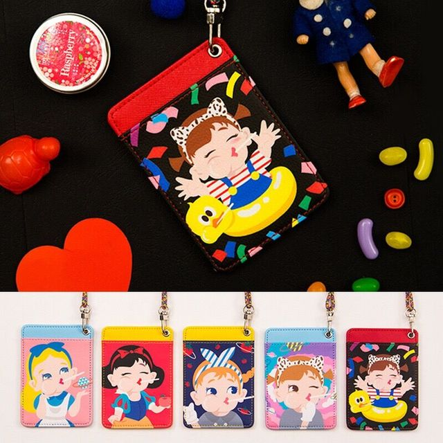 Hang neck type Student Bus Card Bags Girls Long Line Mini Money Bag Best Birthday Gift For Daughter Children Bentoy Funny Bags