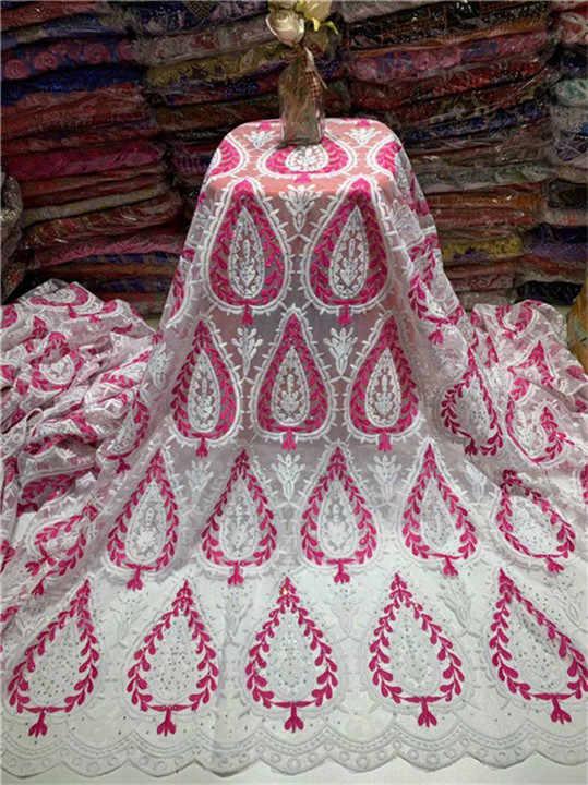 Dentelle française tissu 5 mètres perlé africain tulle dentelle pierres tissu blanc, bleu ciel maille dentelle mariée mariage/robe de soirée dentelle