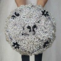 Модные брошь Букеты Свадебные для невест корсаж цветок полный кристалл свадебные букеты Свадебные цветы Buque De Noiva индивидуальный заказ