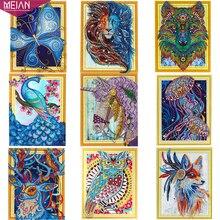 """Meian, алмазная живопись """"Животные"""" 5D DIY дрель Алмазная вышивка Алмазная мозаика, картина, Specail Диамант DP Аксессуары декор"""