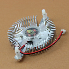 100PCS LOT 12V 2pin Silver PC VGA Video Graphics Card Cooler Cooling Fan 80mm