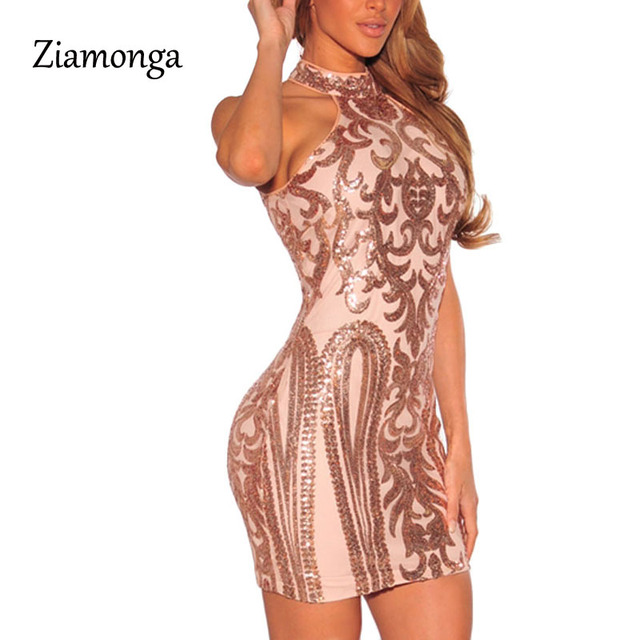 Ziamonga Women Sexy Dresses Party Night Club Sparkling Sequin Dress Summer  2017 Off Shoulder Vestido Sexy Bandage Dress C2839 744de2ed09df