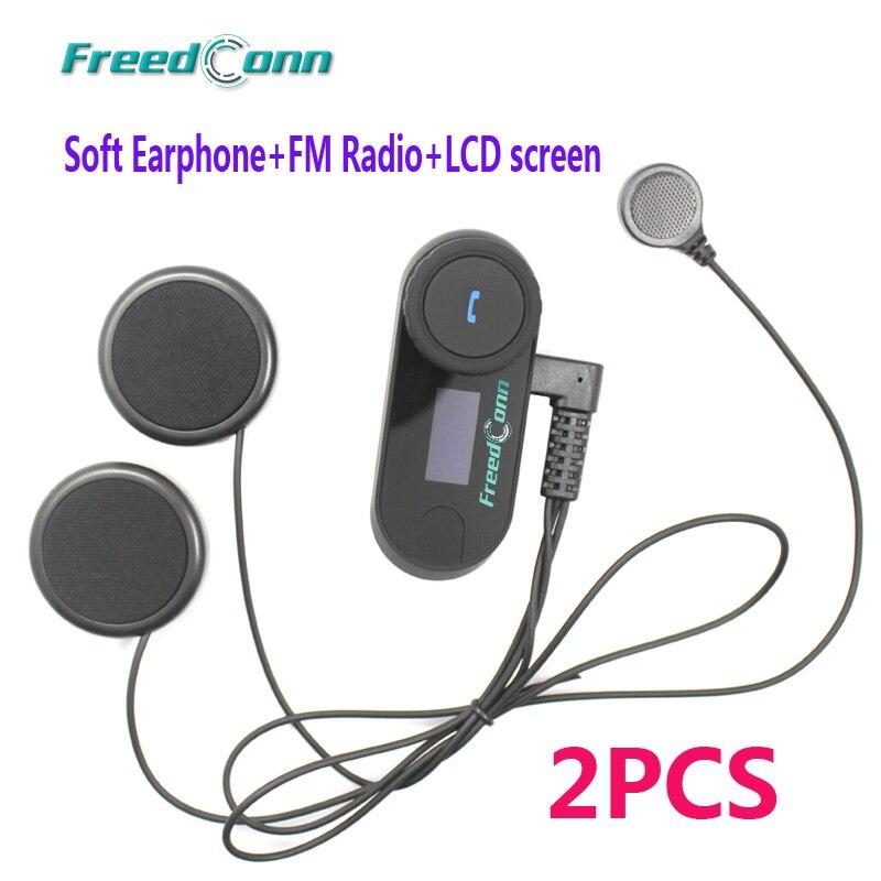 2 pcs FreedConn TCOM SC Bluetooth Motorcycle Intercom Headset With LCD Screen FM Soft Mic for