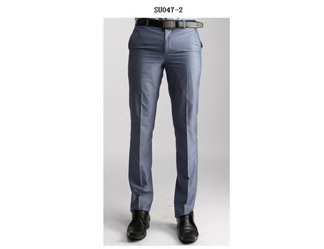 Winter Working Suit Pants Men Korean Style Office Formal Business Dress Trousers Wool Slim Fit