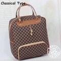 16 polegada de couro Pu fêmea do vintage olá kitty bagagem do trole saco de viagem portátil saco de viagem saco da bagagem do curso saco macio