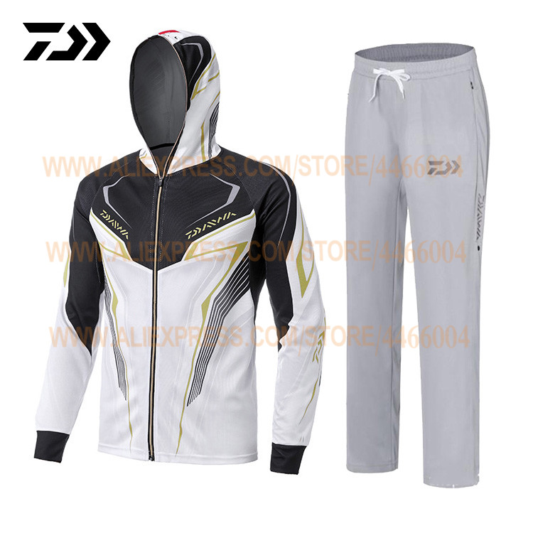 DAIWA Fishing Clothes Sets Mens Breathable Fishing Shirts Pants UV Protection Summer Sportwears Daiwa Fishing Clothing