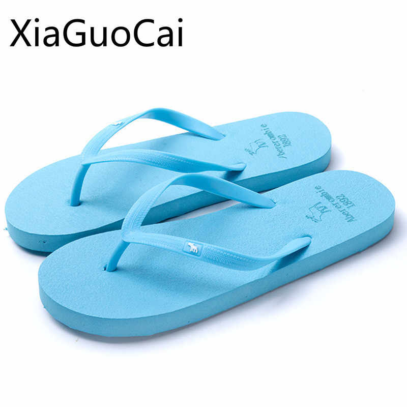 18a4d7565ec8 Detail Feedback Questions about Blue Cute Fashion Women Slippers  Lightweight Breathable Female Flip Flops Summer Beach Footwear for Grils  Slides Drop ...