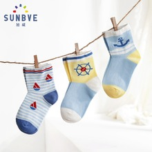 Child's Socks for Boys Girls Cute Cartoon Kids Socks 6Pair/Lot Unisex Print Pattern Soft SocksSpring/Summer Thin Fashion Socks