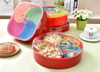 Snacks Organizer Storage Box Fruit Dishes Saucer Snack Tray Fruit Tray Plates Serving Tray Plastic Nuts