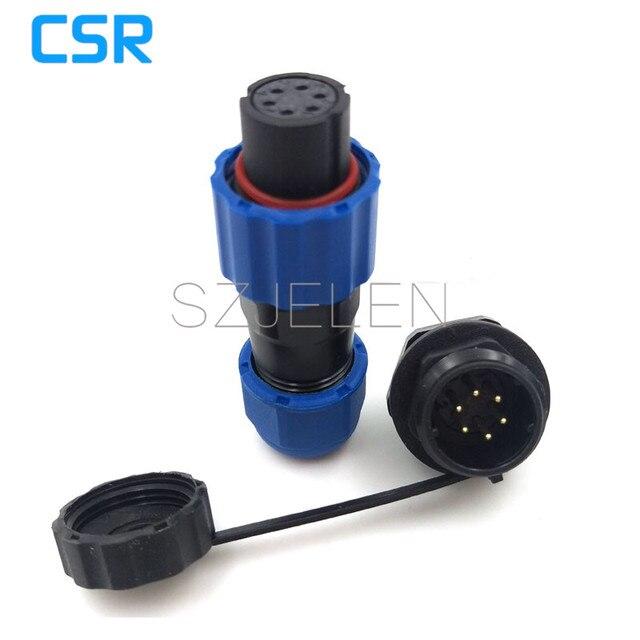 SD13, IP68 6 pin AC промышленности авиации водонепроницаемый разъем питания, водонепроницаемый кабель с креплением на панели разъем 6pin, IP68, LED Connector