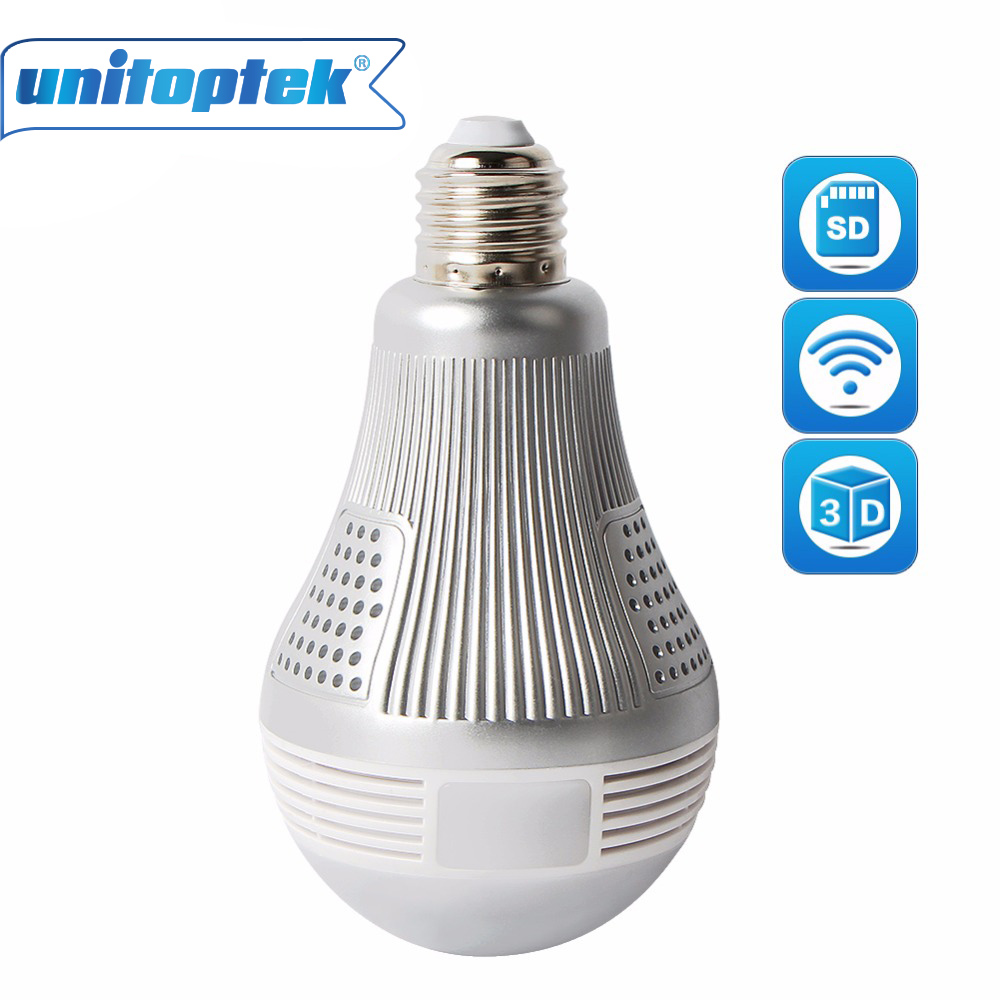Wireless IP 3D VR HD 3MP 5MP Camera WIFI Bulb Light FishEye Panoramic Surveillance 180/360 Degree CCTV Home Security Cameras wifi ip bulb camera 360 fisheye panoramic bulb camera 1 3mp 960p cctv video surveillance wifi security camera