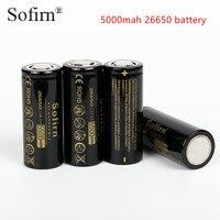 Sofirn 3,7 В 26650 5500 мАч Перезаряжаемые батареи высокого Ёмкость литиевых Батарея литий-ионные аккумуляторы 5000 мАч 2 предмета с посылка коробка