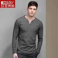 Hodo Men S T Shirts Brand Solid Color T Shirt Men Fashion Full Sleeves T Shirts