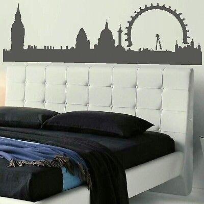 Adesivi murali diy london skyline testiera wall sticker decal per ...