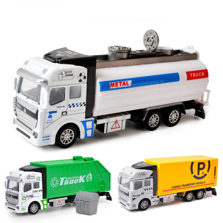 1 64 Mini Toy Car Model Alloy Garbage Truck Sprinkler Rescue Vehicle Engineering Green Car Model Display Stand Children 39 s Gifts in Diecasts amp Toy Vehicles from Toys amp Hobbies