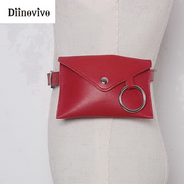 DIINOVIVO Fashion New Women Waist Pack Female Belt Bag Phone Pouch Bags Women Envelope Bags Fanny Pack Bolosa Feminina WHDV0300