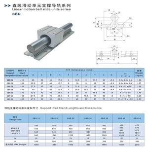 Image 5 - SBR16 16mm ray uzunluğu 300mm 400mm 500mm 600mm lineer kılavuz ile 2 adet SBR16UU seti cnc router 3D baskı parçası lineer ray kılavuzu