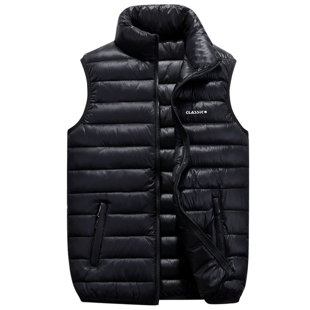 Plus Size S-6XL Men sleeveless jacket 2016 New Winter Down Vest Ultra Light Down Sleeveless Jacket Men's  Waistcoat Vest 3016