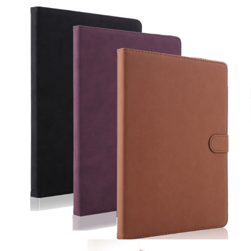 Luxury Tablet Case For New ipad 2017 2018 Fashion Retro Matte PU Leather Folding Folio Stand Case Cover For ipad Air 1 Air 2 (3)