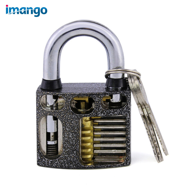 Practice Lock Profile Exercises Open Lock Working Principle Study Padlock Locksmith Supplies Transparent Practice Locks Metal цена 2017