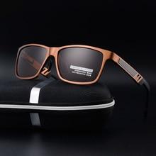 Алюминий магния поляризованные солнцезащитные очки мужские брендовые дизайнерские солнцезащитные очки водителя вождения очки линзы Óculos De Sol