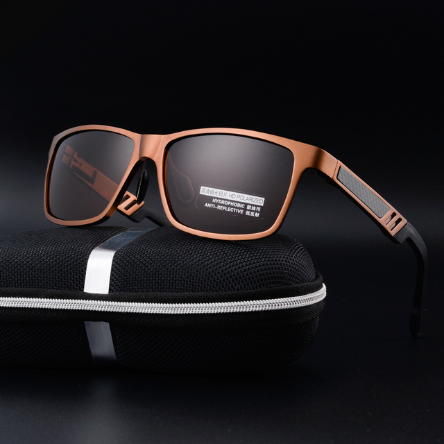 De alumínio e magnésio polarizada óculos de sol para homens motorista óculos de sol de pesca óculos de condução óculos de lente