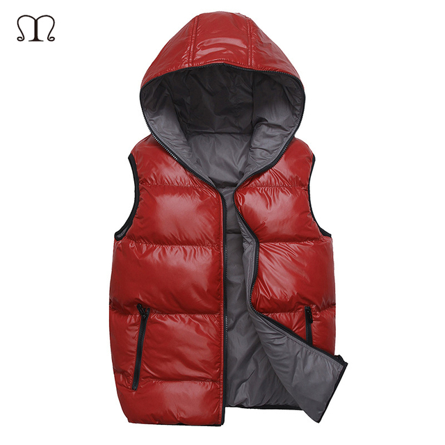 Winter Vest Men 2016 Men's Brand Hooded Male Fashion Sleeveless veste homme Cotton-Padded Waistcoat Jacket and Coat Warm Vest