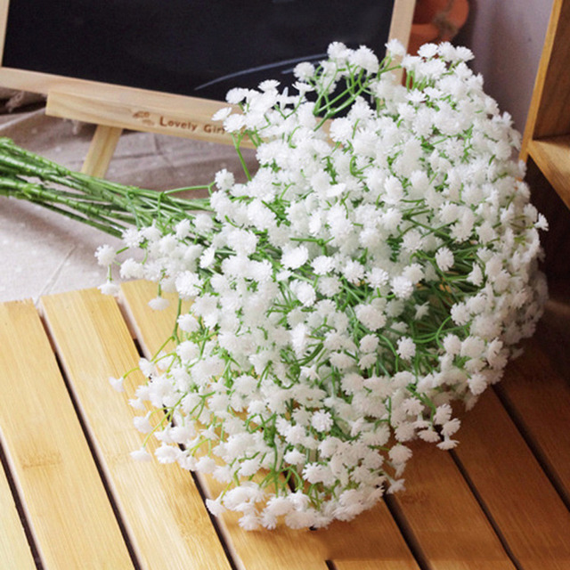 2017 New Artificial Flowers Gypsophila Baby S Breath Silk Flower Plant For Wedding Party Home Decoration