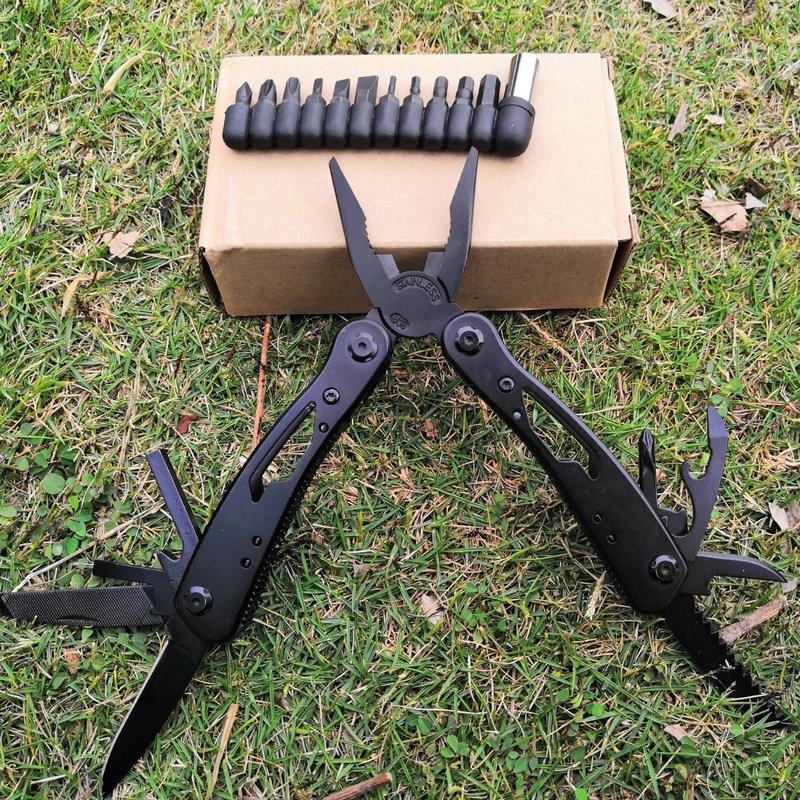 Ausdauernd Daicamping Edelstahl Tragbare Schwarz Multi-funktionale Klapp Werkzeug Zangen Outdoor Notfall Universal Kombination Multi Zangen Werkzeuge Handwerkzeuge