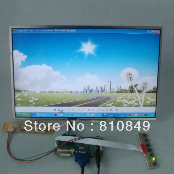 DVI+VGA Control board+15.4inch 1680*1050 LP154W02 B154SW01 N154Z1 Lcd panel hdmi dvi vga audio control board work for 22inch m220ew01 v0 1680 1050 lcd panel