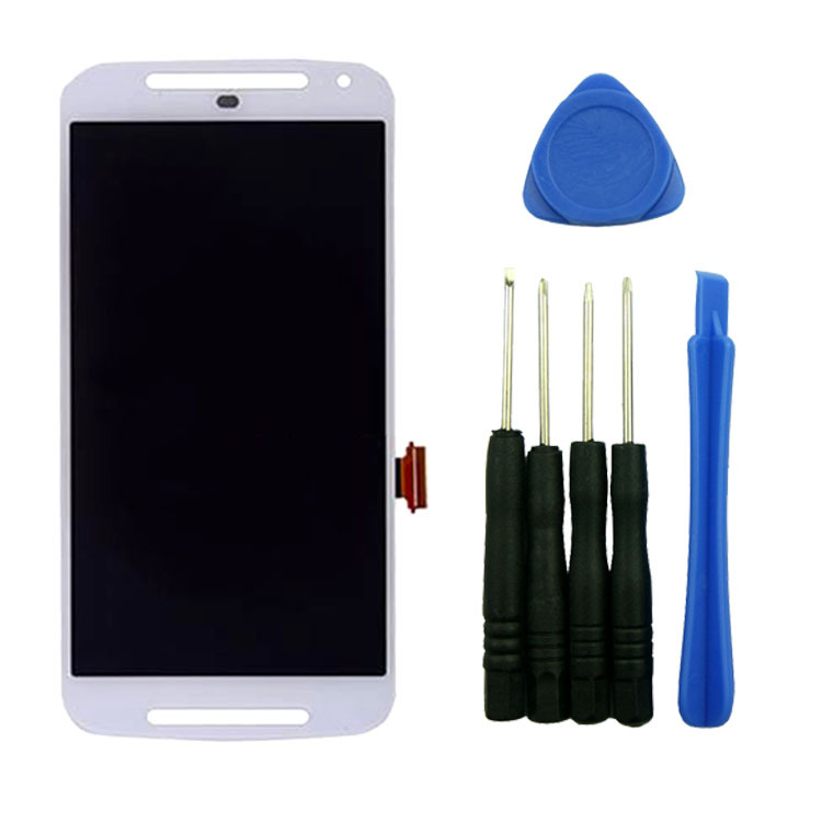 ФОТО White For Motorola Moto G 2nd G2 Gen XT1063 LCD Screen Display Digitizer Touch Assembly With Tools High Quality