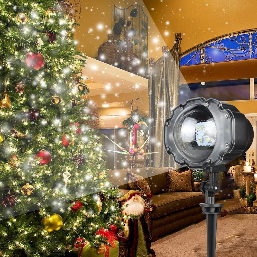 Mini Christmas Snowfall Projector Outdoor IP65 Moving Snow Garden Laser Projector Light For Disco Xmas PartyMini Christmas Snowfall Projector Outdoor IP65 Moving Snow Garden Laser Projector Light For Disco Xmas Party