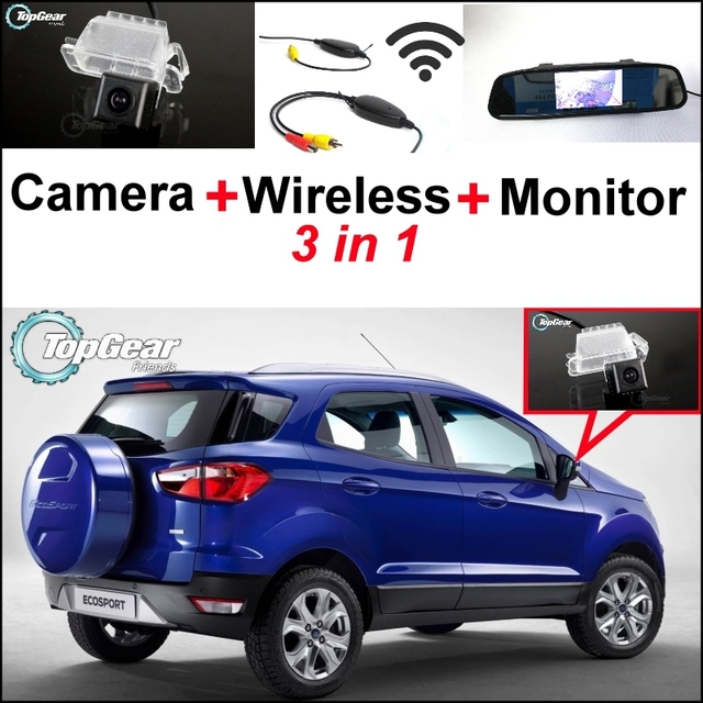 In Special Rear View Camera Wireless Receiver Mirror Monitor Parking System For Ford