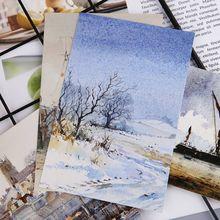 30 hojas, pinturas de tu ciudad, postal Retro Vintage, tarjeta de regalo de Navidad, tarjetas de deseo, póster, tarjetas 10166