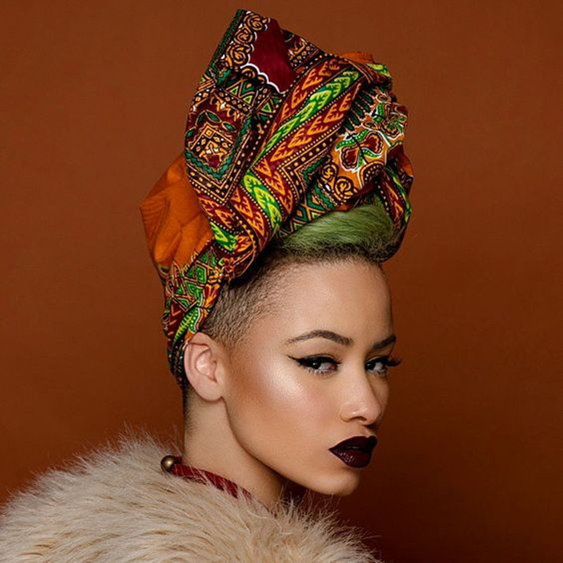 2018 African Headwear For Women Ankara Headband Decorations Wrap Tie Scarf Africa Hair Accessories WYB52