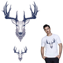 Deer iron on A-level patches for DIY T-shirt bags Accessory decoration transfer Pyrography for clothing applique badge washable canada maple leaf iron on a level patches for diy t shirt bags accessory decoration applique badge sticker patches washable