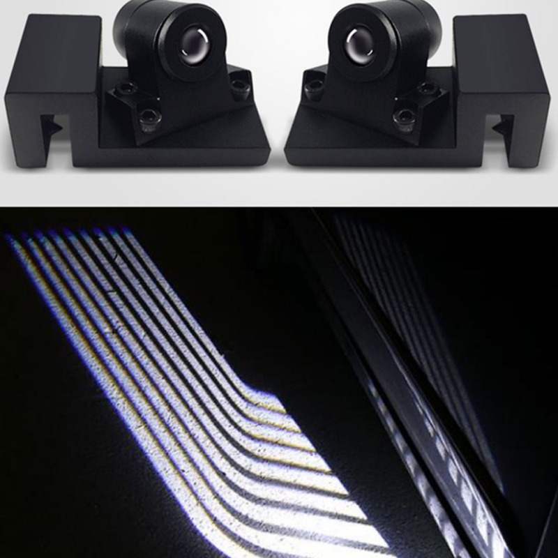 2Pcs Angel Wings Car Welcome Light Shadow Light Projector Car LED Door Welcome Light
