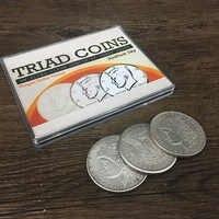 Triad Münzen (Morgan Gimmick) von Joshua Jay Münze Zaubertricks Close Up Magie Requisiten Gimmick Münzen Flucht Super Visuelle Wirkung