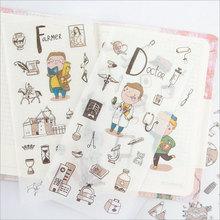 6pcs/lot Lovely kitchenware children Paper diy Decorative Sticker Diary Album Label Scrapbooking Stationery