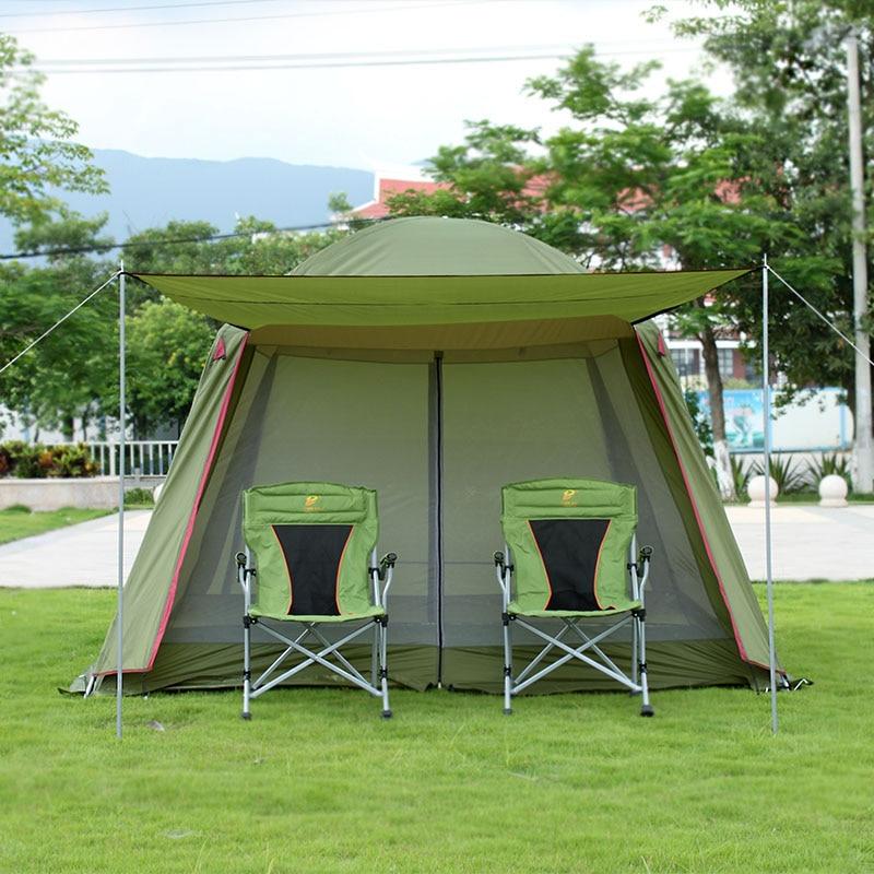Loisirs de plein air Grandes Tentes De Camping 8 10 Personne Family Party Plage Tente Coupe-Vent Imperméable Touristique De Pêche Auvent Tente