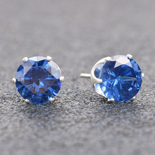 KineL Fashion Classic CZ Diamonds Stud Earrings For Women Silver Plated Cute Wedding Small Earrings Jewelry Best Christmas Gift