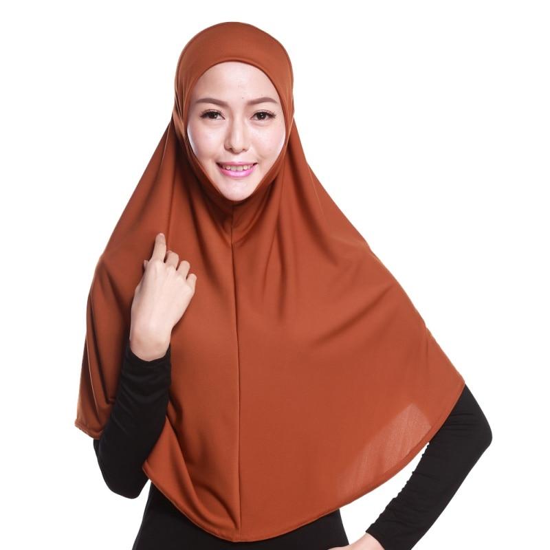 Mode Femmes Hijabs Islamique Poitrine Couverture Écharpe Bonnet - Vêtements nationaux - Photo 2